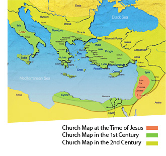 World mission society church of god the early christian church which started in jerusalem prospered and spread to asia minor near israel to macedonia and even to rome sciox Choice Image