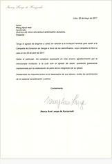 Nancy Ann Lange de Kuczynski, Primera Dama de Perú