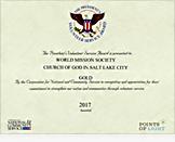 도널드 트럼프 - 국가 및 지역사회 봉사협의회 포인츠 오브 라이트