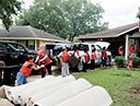 미국 텍사스주 휴스턴교회 허리케인 '하비' 피해복구활동