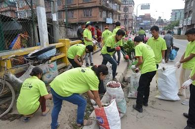 Mother's Street in Nepal
